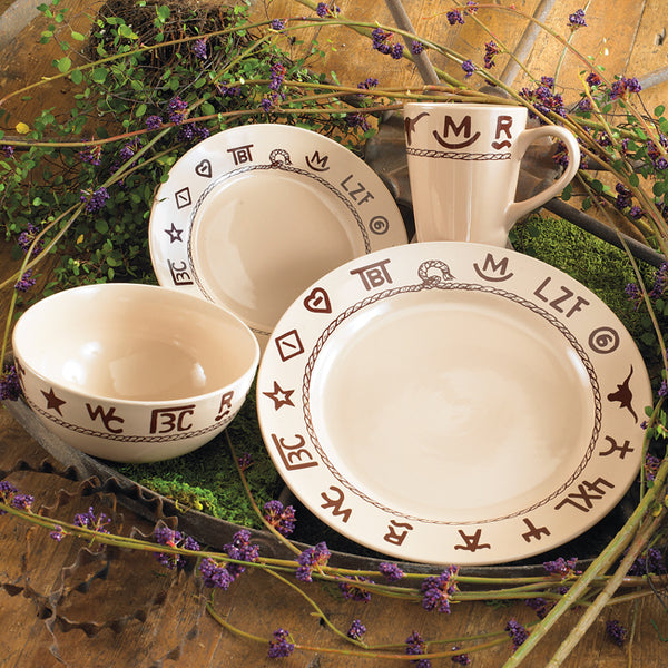 16 Piece Place Setting Branded Dinnerware