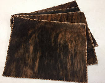 Dark Brindle Cowhide Placemat
