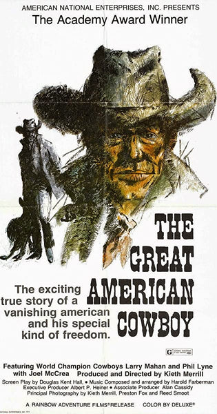 The Great American Cowboy (1973) Movie Poster Print w/Wooden Frame & Glass