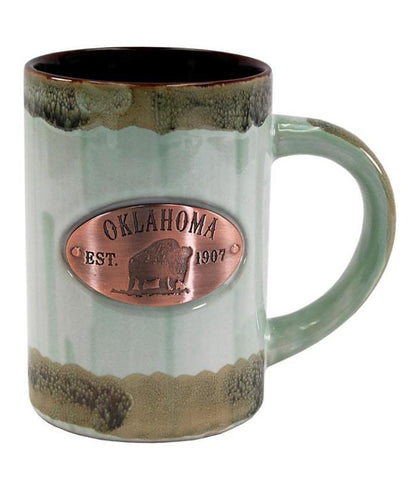 Copper Medallion Mug (Mint Glaze)