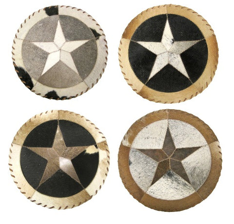 Round Star Cowhide Placemat