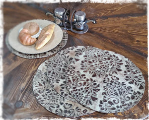 Embossed Leather Placemat