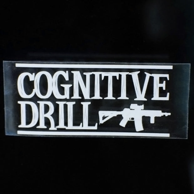 Autocollant Cognitive drill transparent