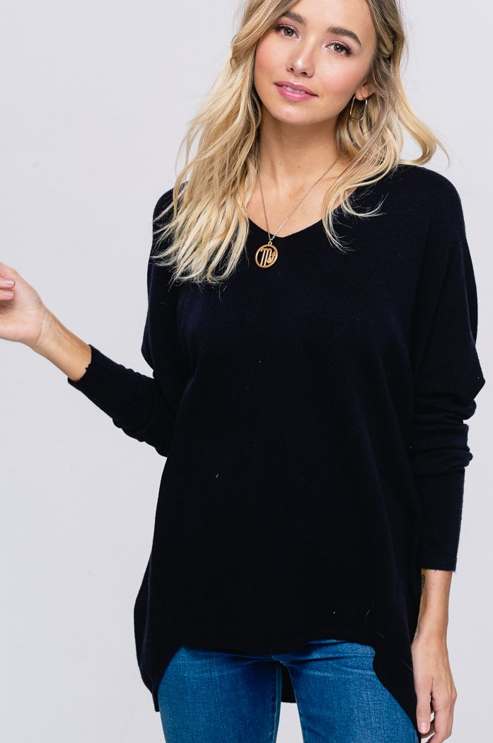 Genevieve Soft Luxe Sweater | Black