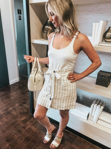 Nikki Striped Linen Skirt