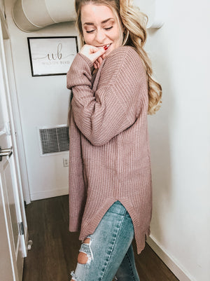 Fallon Lace Up Sweater | Lavender