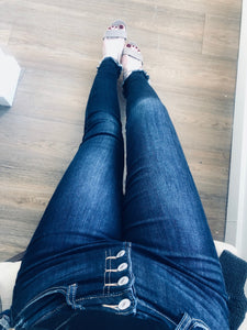 Sara Dark Wash High Rise Skinny Jeans