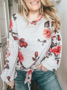 Jacqueline Floral Knit Sweater