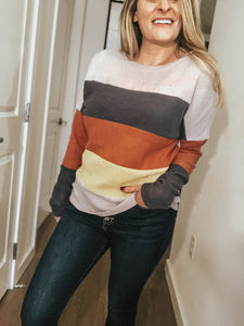 Karen Color Block Knit Top