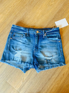 Amanda Cut Off Denim Shorts