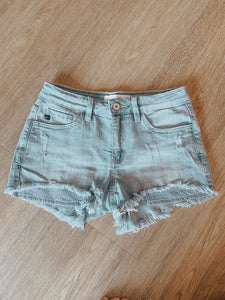 Polly Cut Off Light Wash Shorts