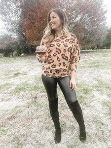 Alexis Animal Print Knit Top