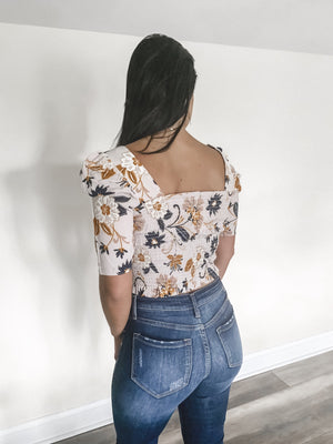 Felicia Floral Short Sleeve Top
