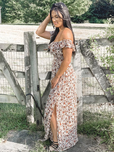 Heather Fall Floral Maxi