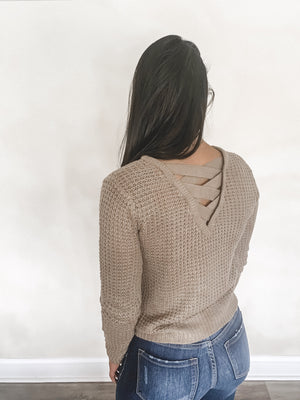 Victoria Criss Cross Back Sweater