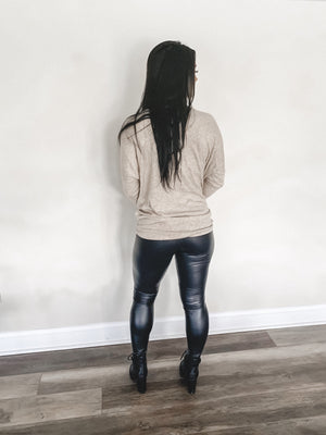 Becky Faux Leather Leggings