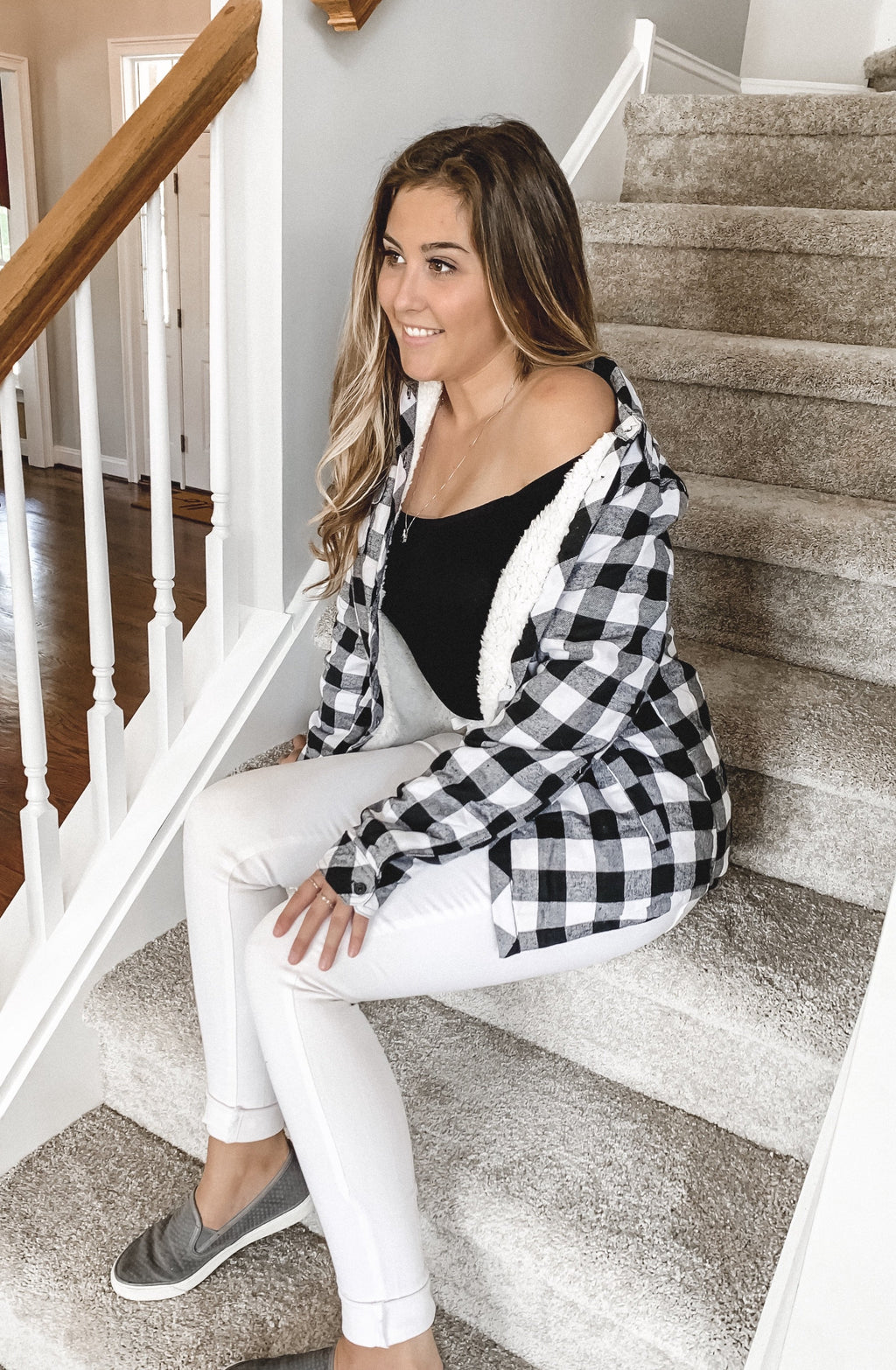Marie Plaid Button Up