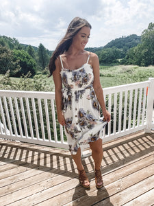Cecilee Floral Midi Dress