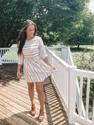 Sharon Striped Dress
