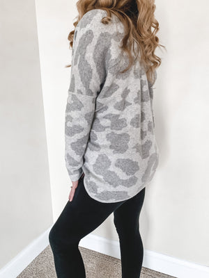 Sheri Leopard Print Knit Sweater