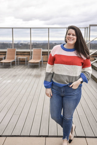 Alexandra Color Block Sweater