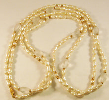 "Load image into Gallery viewer, 60"" Baroque Faux Pearl Necklace. Signed ""Monet"""