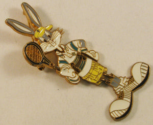 "Signed ""WB"" (Warner Brothers) Bugs Bunny Articulated Brooch c1994"