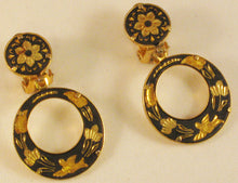 Load image into Gallery viewer, Damascene Clip Earrings