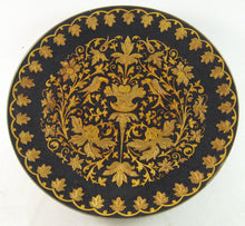 "Load image into Gallery viewer, Damascene 12 cm (4.75"") Collectible Decorative Footed Plate"