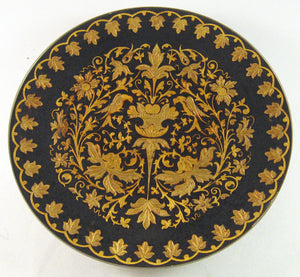 "Damascene 12 cm (4.75"") Collectible Decorative Footed Plate"