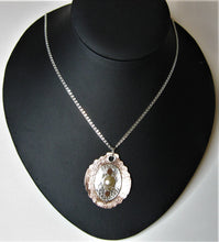 Load image into Gallery viewer, Sterling Silver and Copper Handcrafted Cultured Pearl Pendant