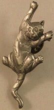 "Load image into Gallery viewer, Cat Climbing Signed ""©JJ"" Jonette Jewelry Co. Pewter Pin/Tie Tack"
