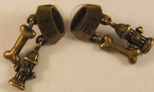 "Load image into Gallery viewer, Dog Bowl, Bone & Fire Hydrant Earrings Signed ""©JJ"" Jonette Jewelry Co."