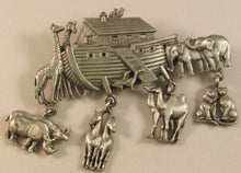 "Load image into Gallery viewer, Noah's Ark Signed ""©JJ"" Jonette Jewelry Co. Pewter Brooch"