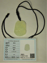 Load image into Gallery viewer, Certified Natural A-Grade Jadeite Jade Pendant Carving of Tiger Ru Yi