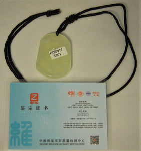 Certified Natural A-Grade Jadeite Jade Pendant Carving of Tiger Ru Yi