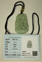 Load image into Gallery viewer, Certified Natural A-Grade Jadeite Jade Pendant Carving of Longevity Birds