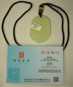 Certified Natural A-Grade Jadeite Jade Pendant Carving of Fortune Rabbit