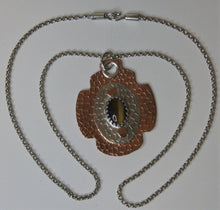 Load image into Gallery viewer, Sterling Silver and Copper Handcrafted Tiger Eye Pendant