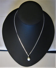 Load image into Gallery viewer, Exquisite Large White Cultured Pearl Pendant w/Sterling Heart Link Chain