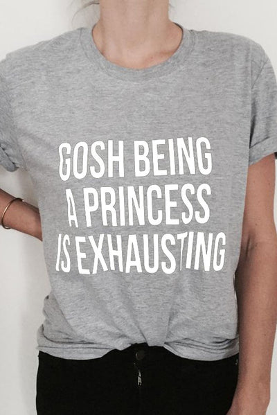 Camiseta Exhausted Princess