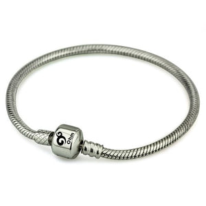 "Snap Clasp Sterling Silver Bracelet (6.3""/16cm) By OHM"