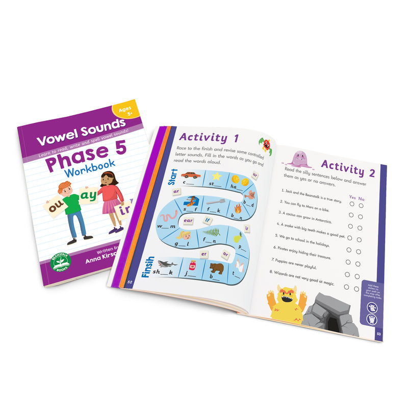 Phase 5 Vowel Sounds Workbook - 12 Pack