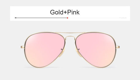 Vintage Stainless Glass Polarized Sunglasses  Rose Gold G15