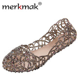 Shallow Leisure Women Sandals Soft Crystal Cut Flats