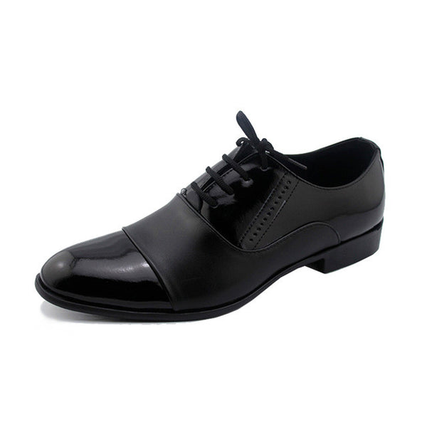 2017 New Men Shoes Patent Leather Men White Black Male Soft Leather Wedding Party Oxford Shoes