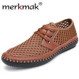 Merkmak Genuine Leather Casual Men's Shoes