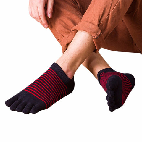 2017 Men Breathable Ankle Low Sport Five Finger Toe Socks Men Yoga Socks