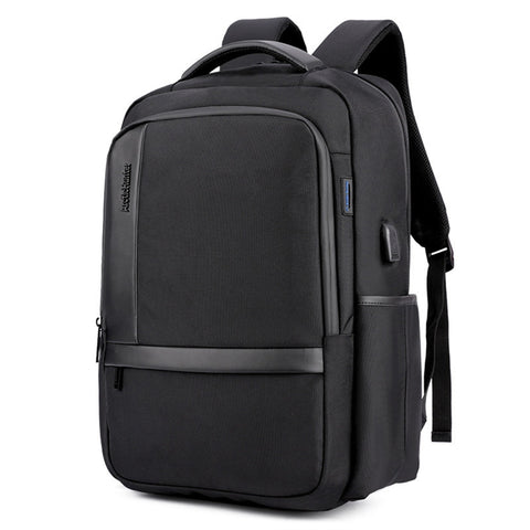Men's Charging Waterproof  Large Capacity Backpack with USB Charging Port