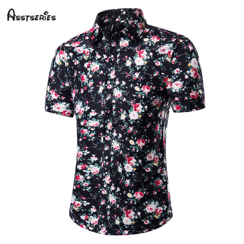 2018 Summer new men's fashion design men's short sleeved shirt